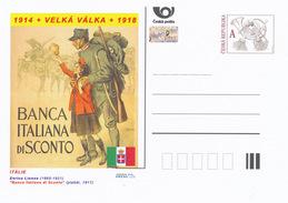 """Tschech. Rep. / Ganzsachen (Pre2014/22) Erster Weltkrieg (WWI) Italien: Enrico Lionne """"Banca Italiana Di Sconto"""" - 1. Weltkrieg"""