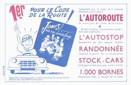Vieux Papiers - Buvard - Automobile - Jeux - 1er Au Code De La Route, Car Il Joue à L'autoroute - Automotive