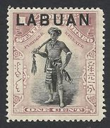 Labuan, 1 C. 1897, Sc # 72A, Mi # 70b, MH. - North Borneo (...-1963)