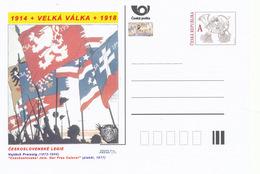 """Tschech. Rep. / Ganzsachen (Pre2014/23) Erster Weltkrieg (WWI) Tschechosl. Legion: Vojtech Preissig """"Tschechoslowaken! - Briefe"""