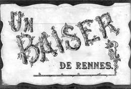 35 - RENNES - Un Baiser De Rennes - Carte Avec Paillettes - Rennes