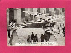 """Militaria, Musée De L'Armée, Campagne 1914-15, """"Aviatik"""" Allemand, Bataille De La Marne, Animée, (Roige) - Guerre 1914-18"""