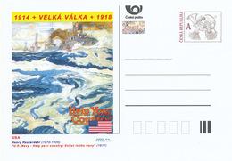 """Tschech. Rep. / Ganzsachen (Pre2014/24) Erster Weltkrieg (WWI) USA: Henry Reuterdahl """"US Navy - Helfen Sie Ihrem Land! . - Flaggen"""
