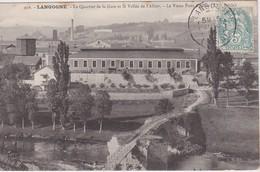 FRANCE 1906 CARTE POSTALE DE LANGOGNE LE QUARTIER DE LA GARE -LE VIEUX PONT D'ALLIER - Langogne