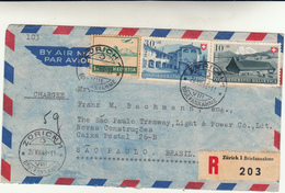 Zurigo To Sao Paulo,Brasil. Cover Raccomandata 1948 - Schweiz