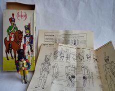 RARE MAQUETTE AIGLON Montée Et Peinte Avec BOITE Et NOTICE - FIGURINE ARMEE FRANCAISE 1ER EMPIRE - Small Figures