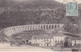 FRANCE 1906 CARTE POSTALE ENVIRONS LANGOGNE VIADUC SUR LE CONFLUE T DE L'ALLIER ET DU CHAPEAUROUX  HOTEL DE LA PAIX - Langogne