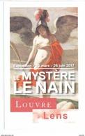 Ticket  Billet D'entrée Du Musée Du Louvre à Lens Le Mystère Le Nain - Tickets D'entrée