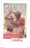 Ticket  Billet D'entrée Du Musée Du Louvre à Lens Musique Dans L'antiquité - Tickets D'entrée