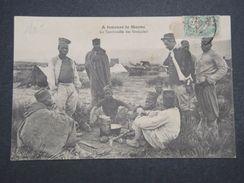 MAROC - Carte Postale - La Tambouille Des Sénégalais , Cp Voyagé Vers La France - L 10052 - Maroc