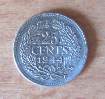 Pays-Bas / Nederland - 25 Cents 1944 Argent - TTB - [ 3] 1815-… : Royaume Des Pays-Bas