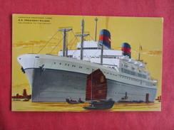 American President Line  S.S. President Wilson --ref 2740 - Steamers