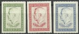 SUECIA 1952  Yt 369/71 ** Mnh - Nuevos