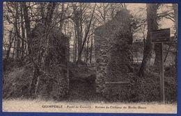29 QUIMPERLE Forêt De Carnoët, Ruines Du Château De Barbe-Bleue - Quimperlé