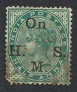 India, 1/2 A. 1883, Sc # O27, Used. - India (...-1947)