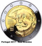 PORTOGALLO - 2 Euro 2017 - Brandao - UNC - Portugal