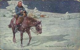 AK Karl Feiertag, Des Reiter's Nachtgebet, Soldat, Pferd, BKWI 933-8 (26487) - Feiertag, Karl