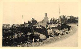 Themes Div -ref  V217- Photo Support Rigide -13,5cms X 8,5cms - Guerre 1939-45- Saint Lo - St Lo - Manche  - - Lieux