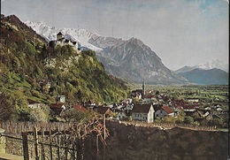 LIECHTENSTEIN - VADUZ - VEDUTA - VIAGGIATA 1984 FRANCOBOLLO ASPORTATO - Liechtenstein