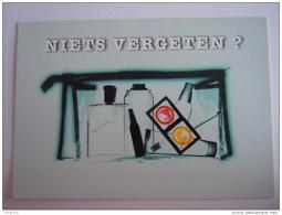 Belgique Niets Vergeten Toiletzak Condomen Preventie Hiv Sida Carte Boomerang - Health