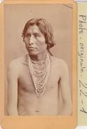 Photo C.d.v. : Indien D'amerique  ( Tribu A Definir) - Personnes Anonymes