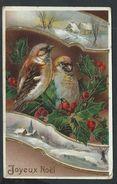 +++ CPA - Carte Fantaisie - Voeux - Noël - Christmas - Oiseau - Dorure - Léger Relief  // - Non Classés