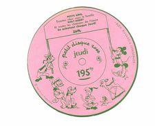 Vieux Papiers - Buvard - Walt Disney - Petit Disque Rose Jeudi - Kids