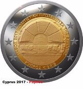 CIPRO - 2 Euro 2017 - PAFO - UNC - Cipro