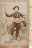 Photo C.d.v. : Militaire  ( Chasseur Alpin Regt.158 ) - War, Military