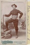 Photo C.d.v. : Militaire  ( Chasseur Alpin Regt.158 ) Photo. Grampa - Lyon - Guerre, Militaire