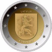 "LETTLAND 2 Euro 2017 ""KURZEME"" - UNC - Sofort Lieferbar - Lettonia"