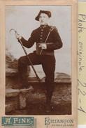 Photo C.d.v. : Militaire  ( Chasseur Alpin Regt. 96 ) Photo. Fine - Briançon - Guerre, Militaire