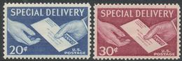 Estados Unidos Expres 16/17 ** MNH. 1954 - Special Delivery, Registration & Certified