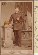 Photo C.d.v. : Militaire  ( Soldat Allemand A Definir ) Photo : Allgeyer - Rastatt  Photo Surlignee De Couleurs - Guerre, Militaire