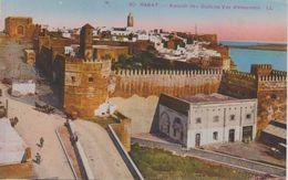MAROC  Lot De 2 CPA - Rabat  Architecture -Vue D'ensemble De La Ville  + Kasbah Des Oudaïas . Voir 2 SCANS - Rabat