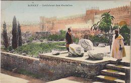 MAROC  Lot De 2 CPA - Rabat  Architecture -Palais Du Sultan   + Intérieur Des Oudaïas . Voir 2 SCANS - Rabat