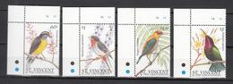 St Vincent 1996,4V In Set,cornerpiece,birds,vogels,vögel,oiseaux,pajaros,uccelli,aves,MNH/Postfris,(A3474) - Vogels