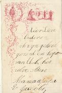 Courrier Illustré Enfant Au Ministre Belge V Jacobs Vers 1865 - Vieux Papiers