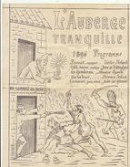 Programme De Théâtre Illustré L'auberge Tranquille 1896 Fêtes Des Bois Belgique - Programmes