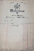 75 18 411 PARIS SEINE 1880  -VIERGE- Tapissier FLEURIOT Tapisserie Rue De Laborde FOURNISSEUR DE SA LE KHEDIVE - France
