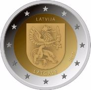 LETTONIA - 2 Euro 2017 - LATGALE - UNC - Latvia
