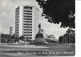MILANO - MONUMENTO G.VERDI VIA GIOTTO E BUONARROTI- VIAGGIATA - NO FRANCOBOLLO - Milano