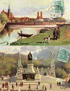 Breslau Oilette Signé Wilhelm  Homann 1911 4 CARTES - Schlesien