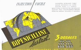 Vieux Papiers - Buvard - Médical -  Bipenicilline Sarbach Chatillon Sur Chalaronne (Ain) - Drogisterij En Apotheek