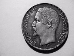 5 F NAPOLEON III TETE NUE EN ARGENT SUP + ANNEE 1852 A  VEND A 80 EUR AU LIEU DE 150 EUR - Francia