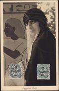 CPA Egyptian Lady YT 69 Et 70 Femme Voilée Musulmane CAD PORT SAID Egypte - Port Said (1899-1931)