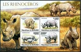 Burundi 2011 MNH SS, Rhino, Wild Animals - Rhinozerosse