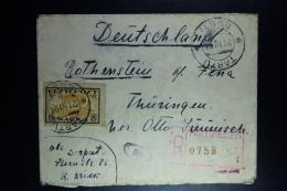 Estland Registeren Cover From Tartu  To Germany  21-3-1921  Backside Damage - Estonie