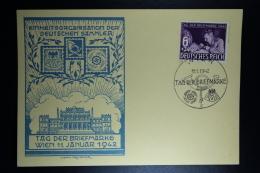 Deutsche Reich Tag Der Briefmarken 1942 Mi 811 FDC  Stempel Wien - Allemagne
