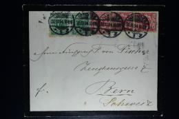 Deutsche Reich Cover 1894 Hannover -> Bern Schweiz   Mi Nr 2*46 + 3*47 - Briefe U. Dokumente